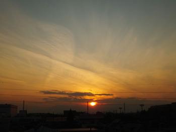 2001年12月21日の夕陽