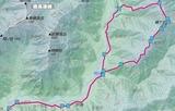 蝶ヶ岳ルート図