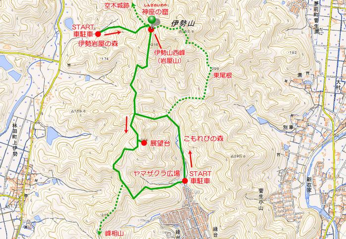 地図岩屋山