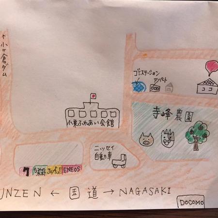 スムージーとプリンの小さなマルシェ地図
