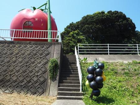 14-諫早市小長井町フルーツバス停ぶとうP8180139