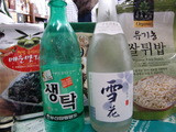 韓国土産の清酒とマッコリ