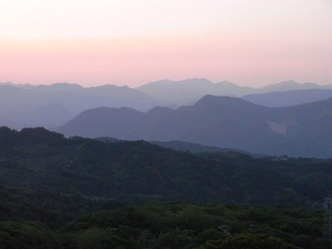 福一から眺める山々 5月