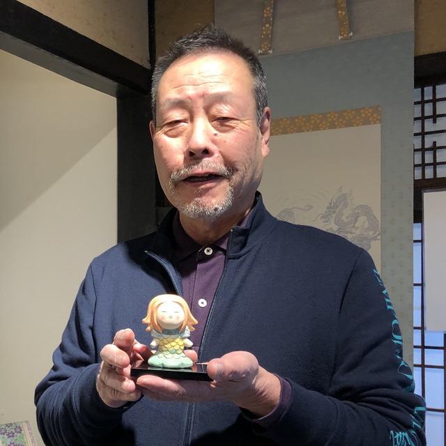 「アマビエ博多人形」もしろう人形作家が制作。