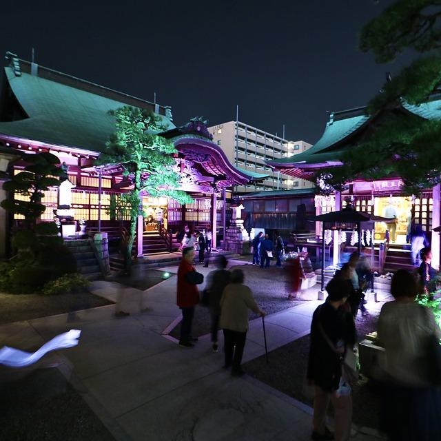 博多旧市街ライトアップウォーク2019千年煌夜_本岳寺04