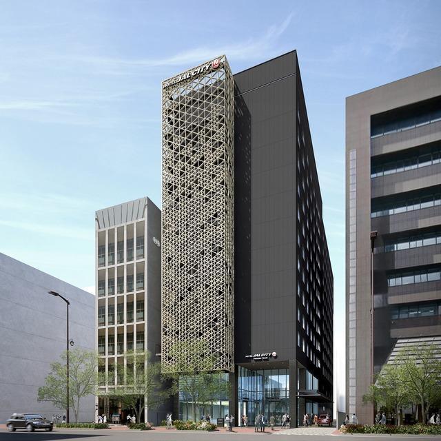 「ホテルJALシティ福岡 天神」外観。12階建、280室。