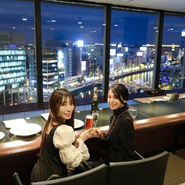 西鉄イン福岡13F「レストラン&バー ブロッソ」夜景レポート