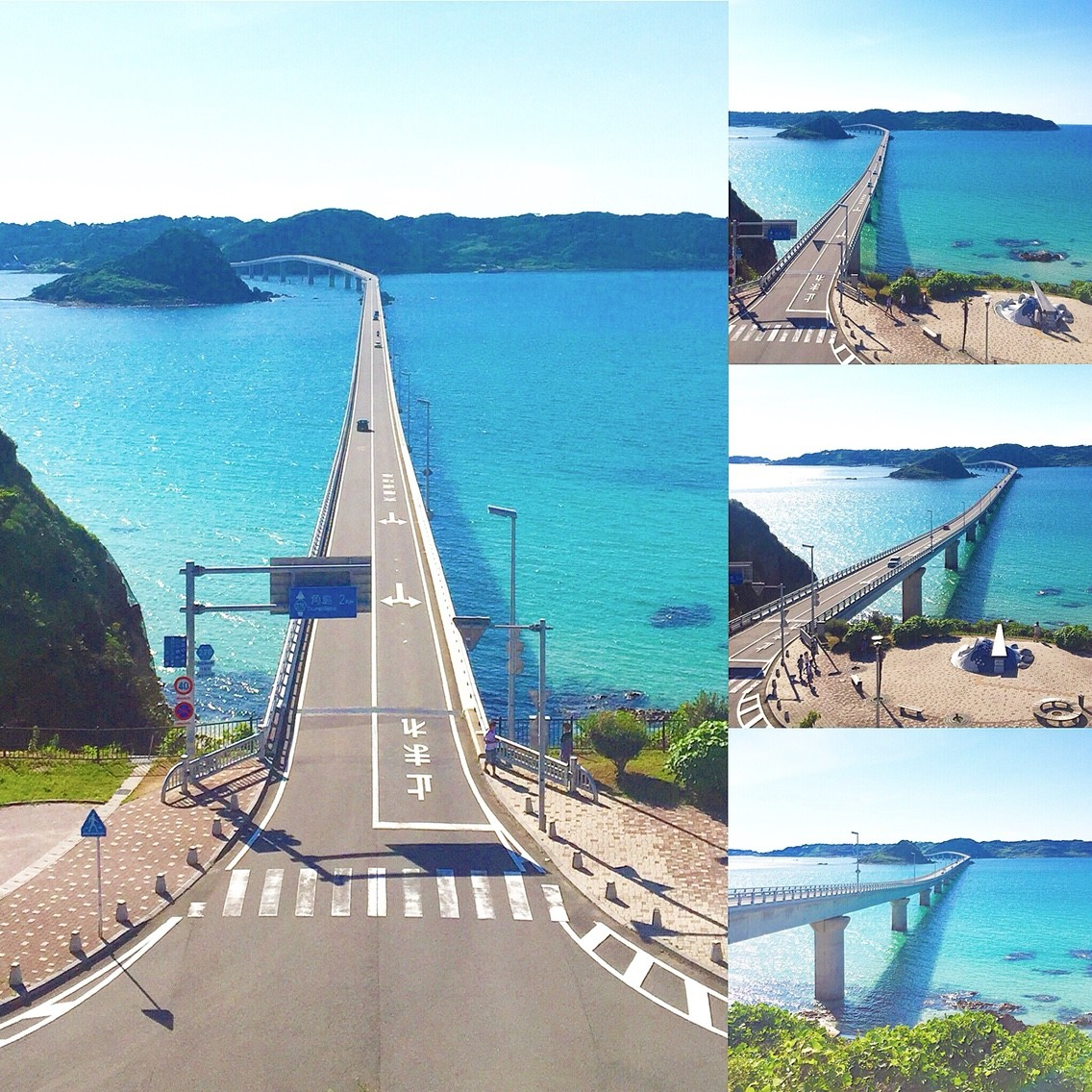 世界の絶景\u201d3位、山口県下関市の「角島大橋」。エメラルドグリーンの海と1780mの大橋。