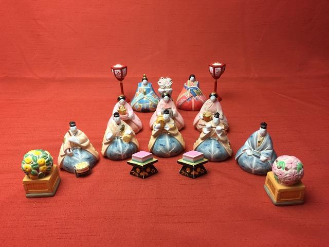 古民家カフェ 華蔵「筑前博多 もしろう人形 小さなひな祭り展」