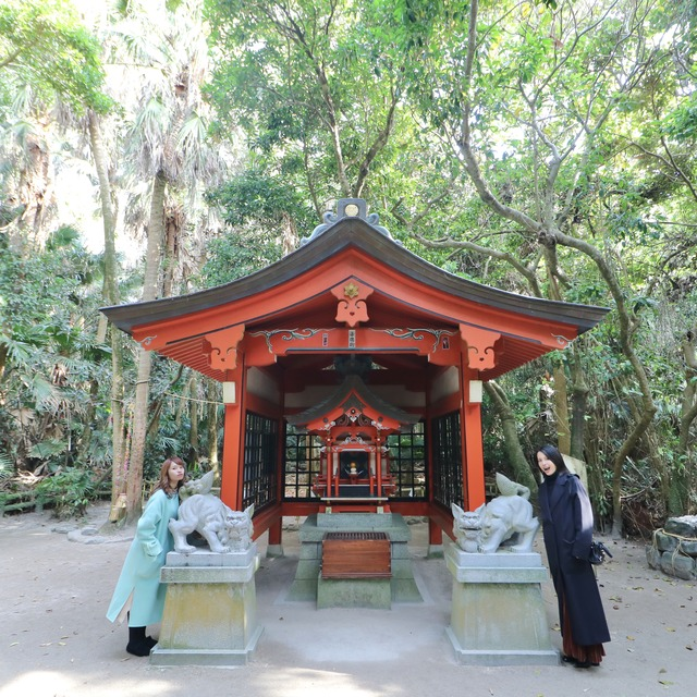 ORC福岡-宮崎便で行く女子旅。青島神社の元宮(もとみや)。