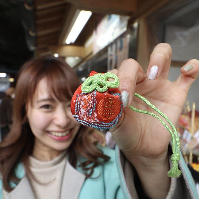 ORC福岡-宮崎便で行く女子旅。鵜戸神宮(うどじんぐう)の「幸の玉御守」。
