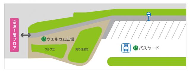 宮崎ブーゲンビリア空港1Fウエルカム広場