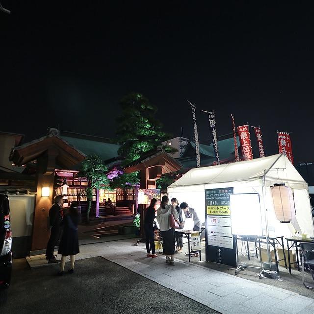 博多旧市街ライトアップウォーク2019千年煌夜_本岳寺03