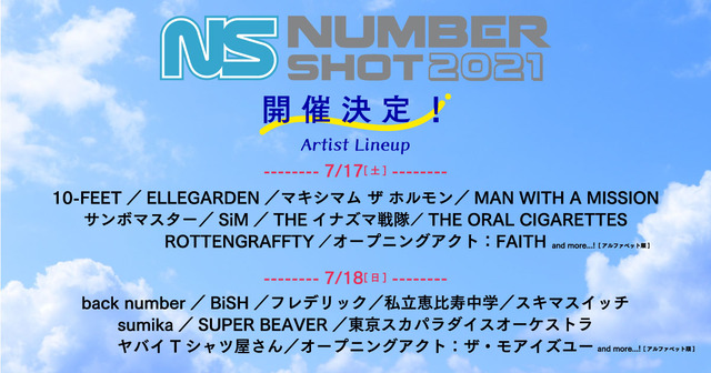 「ナンバーショット2021」福岡PayPayドームにて開催決定