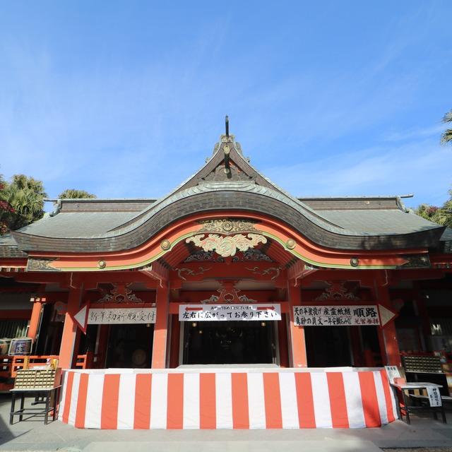 ORC福岡-宮崎便で行く女子旅。青島神社の本殿。
