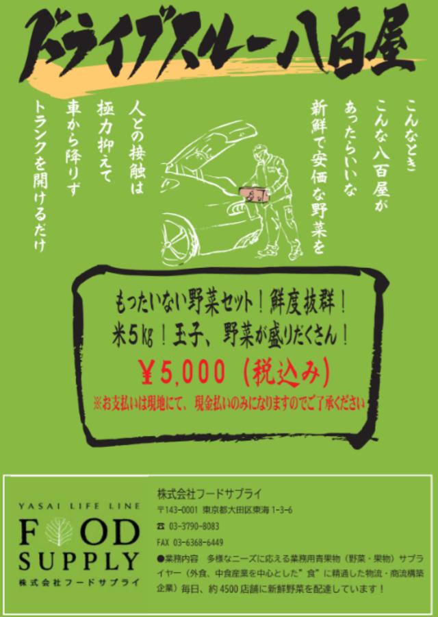 「ドライブスルー八百屋」福岡