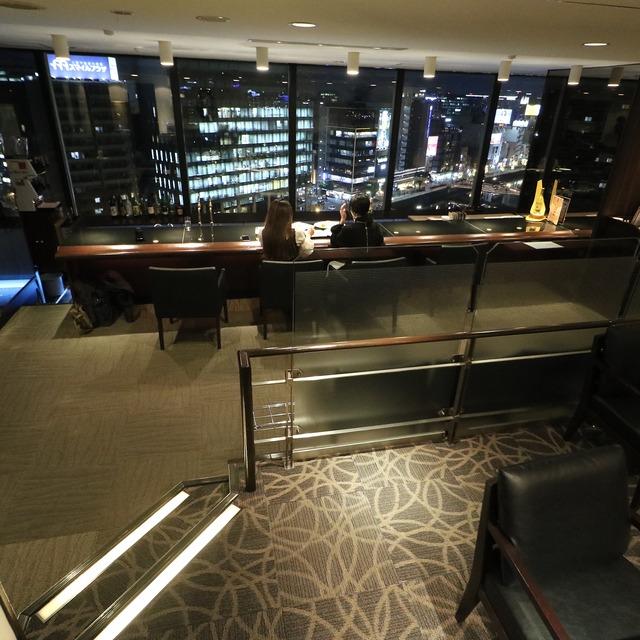 西鉄イン福岡13F「レストラン&バー ブロッソ」夜景