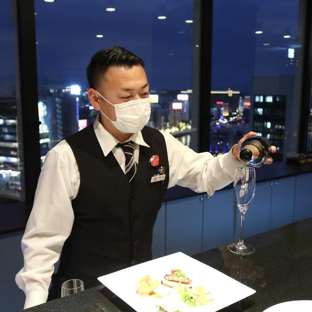 西鉄イン福岡13F「レストラン&バー ブロッソ」スパークリング