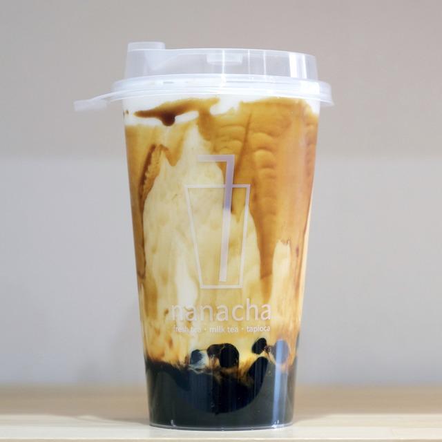 「ナナチャ nanacha 西新店」黒糖タピオカミルク