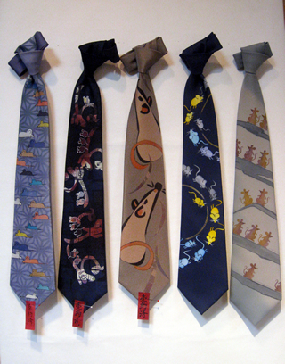 ネクタイの縛り方 ネクタイの巻き方 ねずみのネクタイ 干支