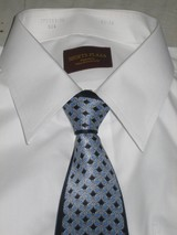 私のネクタイ� 青 白Yシャツ