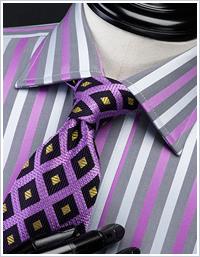 紫色のネクタイ パープル ネクタイの締め方 ネクタイの巻き方