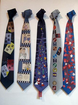 ネクタイの縛り方 ネクタイの巻き方 手作りネクタイ 流れ いろいろ