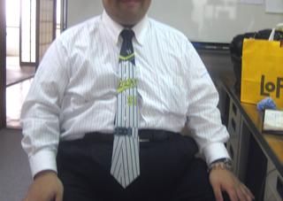 ネクタイの締め方 ネクタイの結び方 阪神タイガースのネクタイ