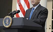 ブッシュ大統領 演説のネクタイの締め方 結び方