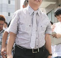 ネクタイの巻き方 ネクタイの結び方 朝青龍の精神科医のネクタイ