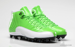 best-air-jordan-pe-football-cleats-earl-thomas-12-xii-green