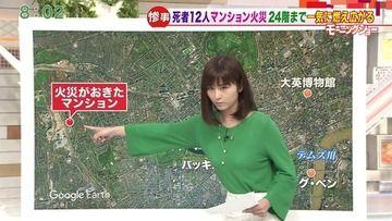 【朗報】宇賀なつみさん、ブラが透けた状態でモーニングショー出演