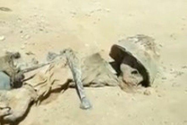 【動画】 砂漠で死んだ兵士のミイラが発見される。まるでインディー・ジョーンズのシーン。