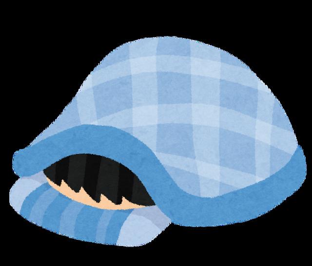 お布団にくるまった睡眠不足ワイ「は!?もう朝ンゴ!?(半ギレ)」