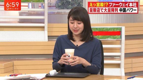 テレ朝のアナウンサー、口に白濁液を付けてしまうwwwww(画像あり)