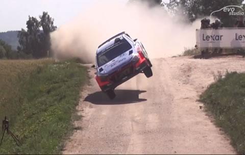 WRC ラリーポーランド2016 ジャンプ&パワースライド