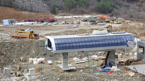 【画像】韓国平昌五輪のスキー場が来年2月の大会に間に合わず 進行度は40%で完成しない場合は日本で開催も