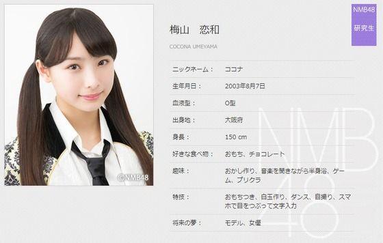『梅山恋和/研究生』24時間に一人NMB48のメンバーについて語るスレ2017(12人目)