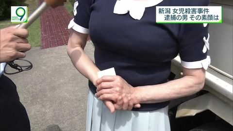 【朗報】NHKのニュースでとんでもない胸の女性が写り込む