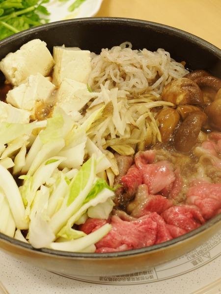 博多和牛のすき焼き。