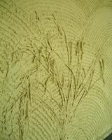 土壁には稲穂が塗り込んであります