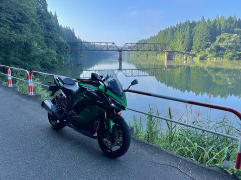 旧柴崎橋と大規模林道飯豊檜枝岐線の残渣