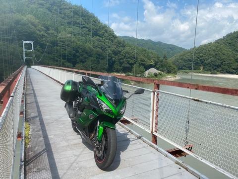 国道152号縦貫・・・未遂からの吊橋走行