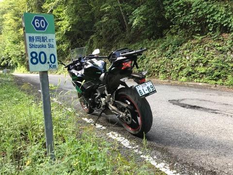 静岡駅までのキロポストは80km!