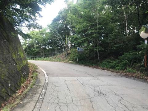 県道610号に入って長野へ抜ける