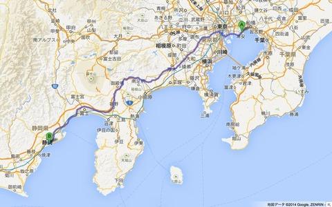 日本平パークウェイと三保松原
