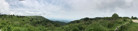 高ボッチ高原の展望広場からの眺め