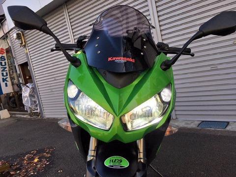 LEDヘッドライトを取り付けた - バイク用スフィアLED RIZING(ライジング) H7のインプレ
