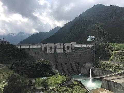 長島ダムに到着