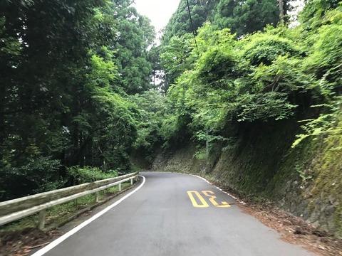 県道70号のヤビツ峠へ